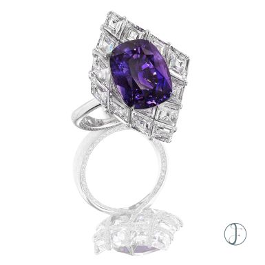 A NATURAL PURPLE SAPPHIRE RING Luxury Exceptional wearable art forms hk